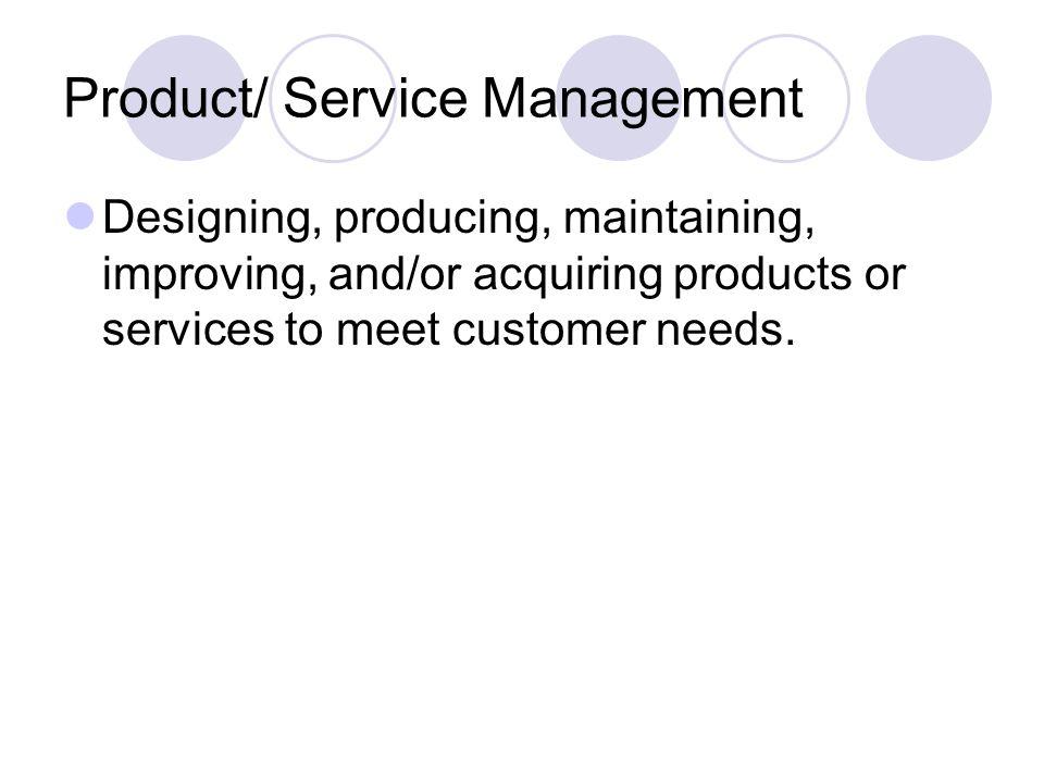 Product/ Service Management