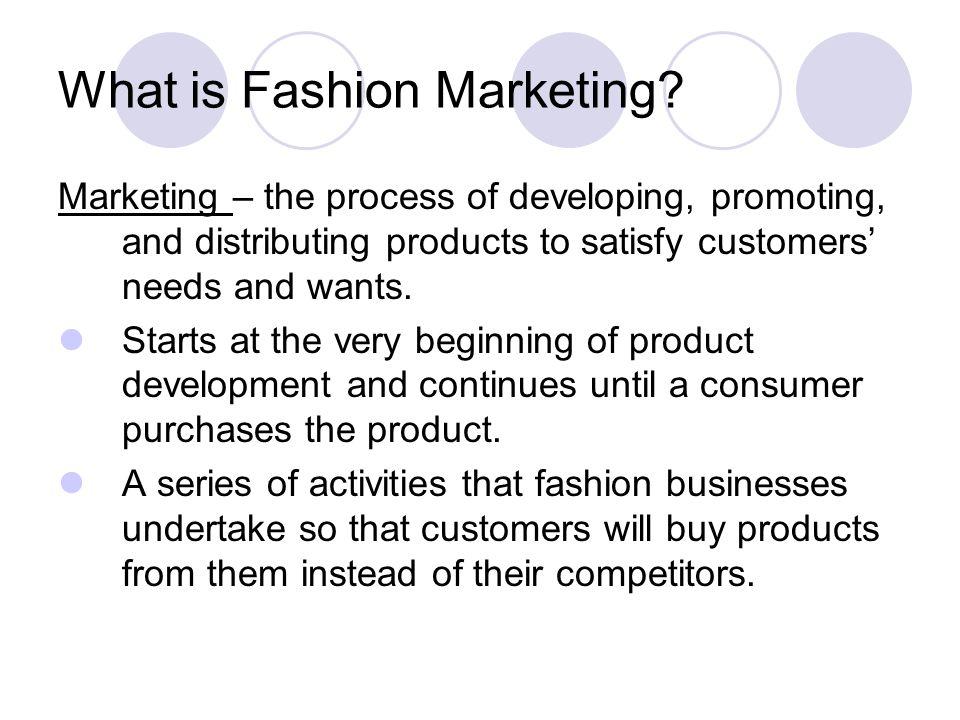 What is Fashion Marketing