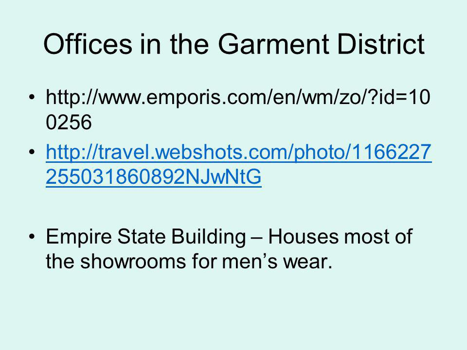 Offices in the Garment District