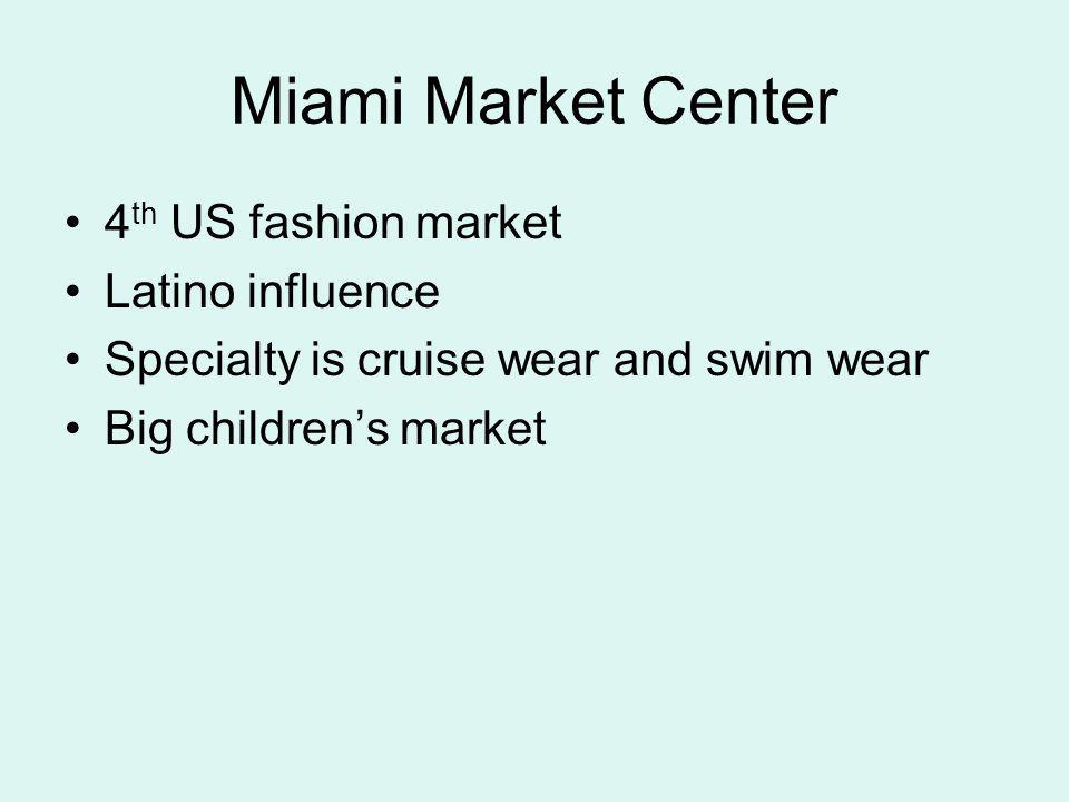Miami Market Center 4th US fashion market Latino influence