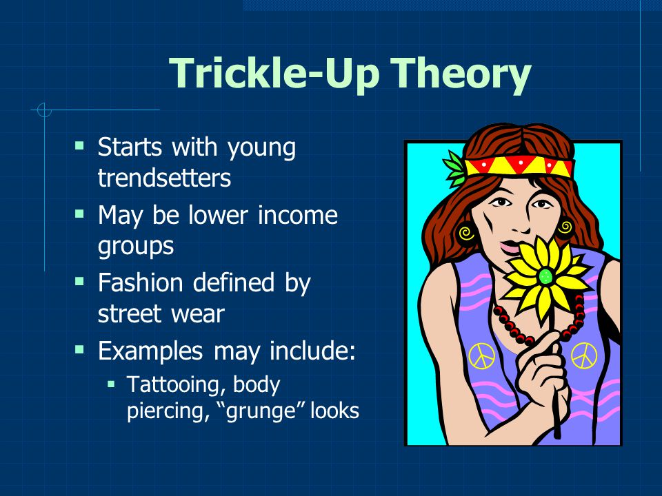 Trickle-Up Theory Starts with young trendsetters