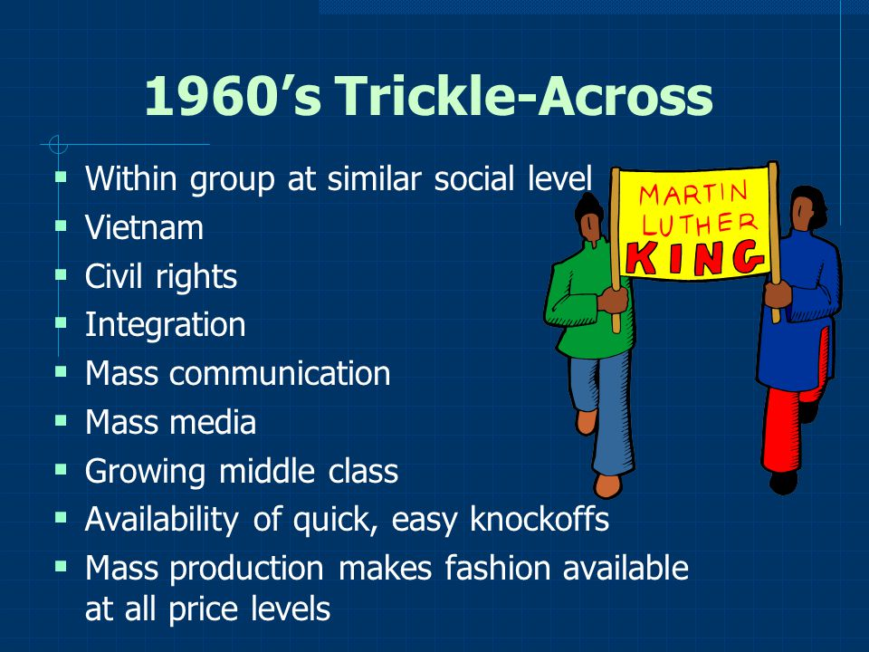 1960's Trickle-Across Within group at similar social level Vietnam