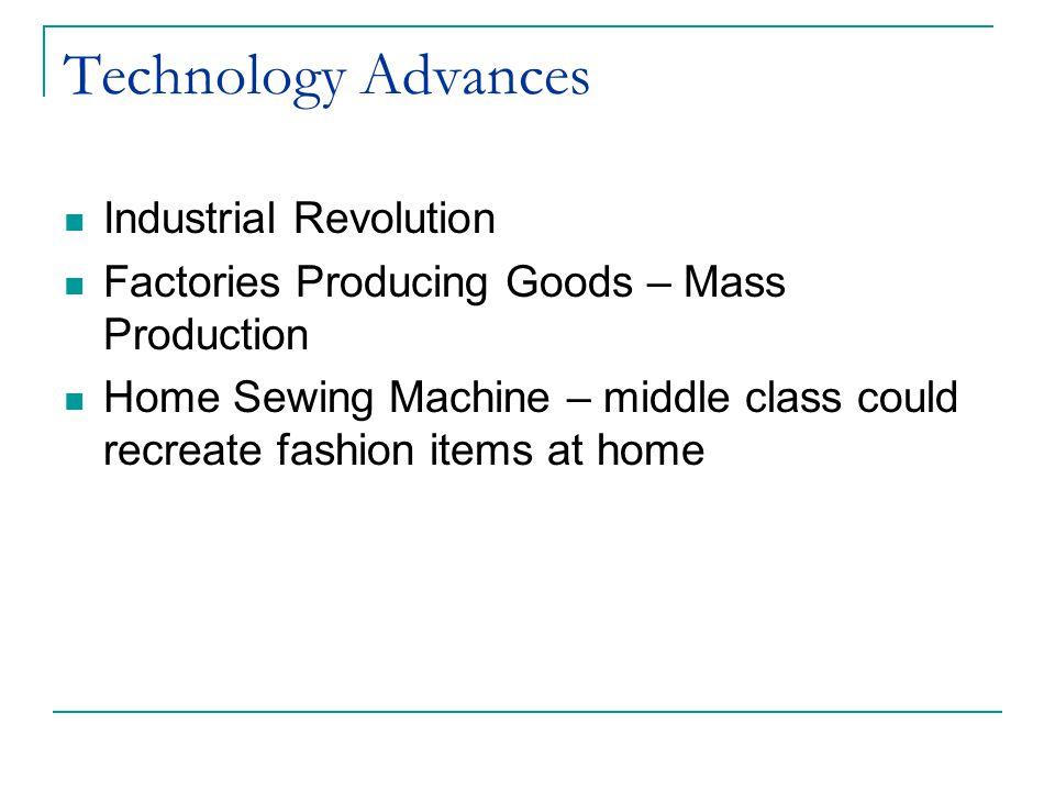 Technology Advances Industrial Revolution
