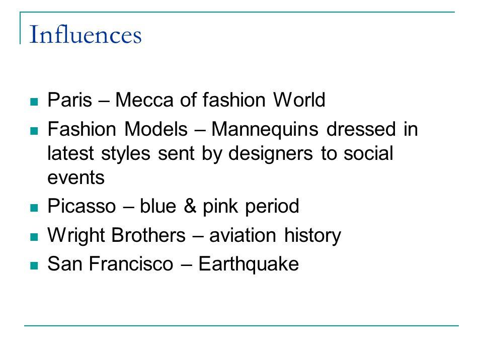 Influences Paris – Mecca of fashion World