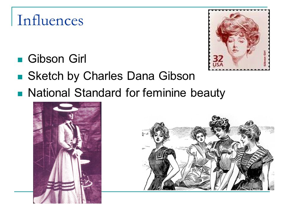 Influences Gibson Girl Sketch by Charles Dana Gibson