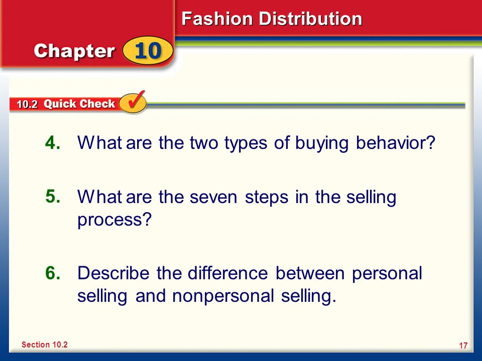 What are the two types of buying behavior