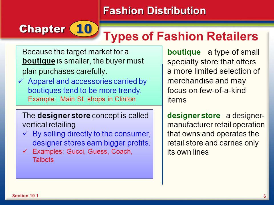 Types of Fashion Retailers