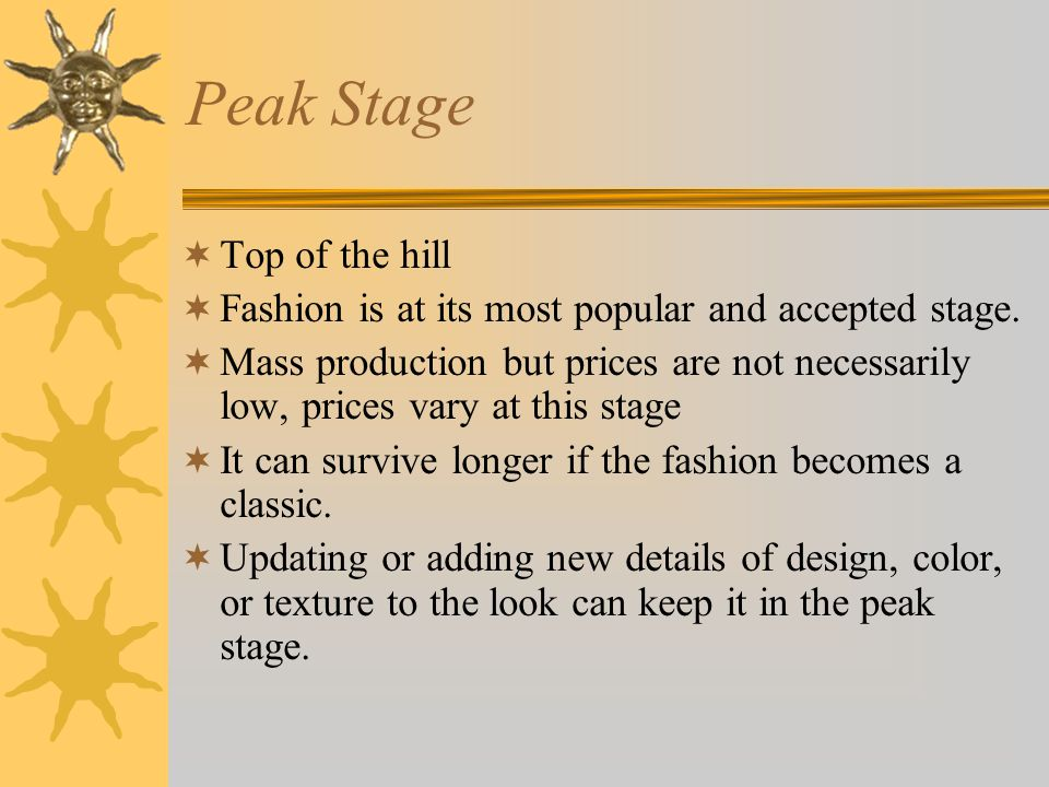 Peak Stage Top of the hill