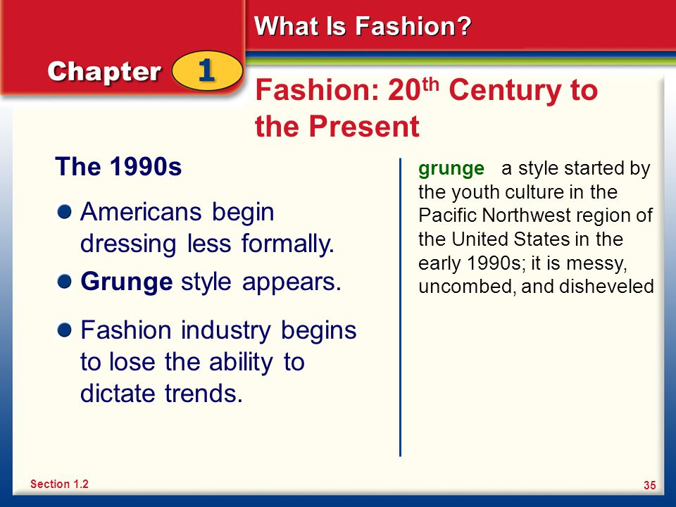 Fashion: 20th Century to the Present