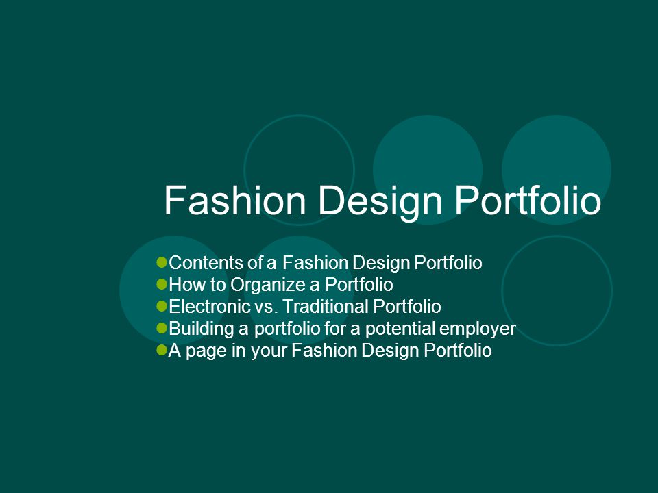 Fashion Design Portfolio Ppt Video Online Download