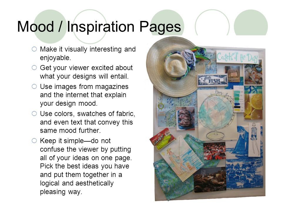 Mood / Inspiration Pages