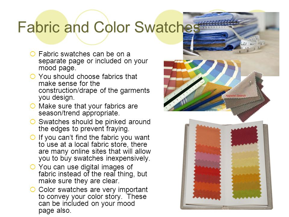 Fabric and Color Swatches