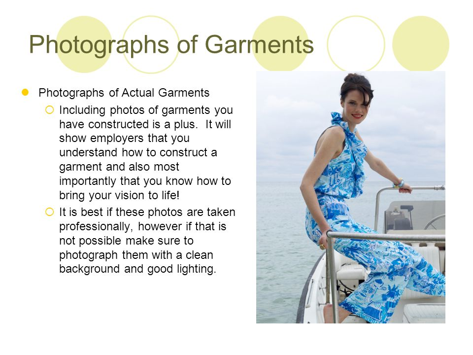 Photographs of Garments
