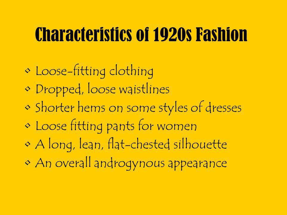 Characteristics of 1920s Fashion