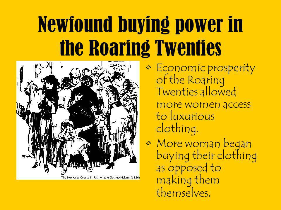 Newfound buying power in the Roaring Twenties