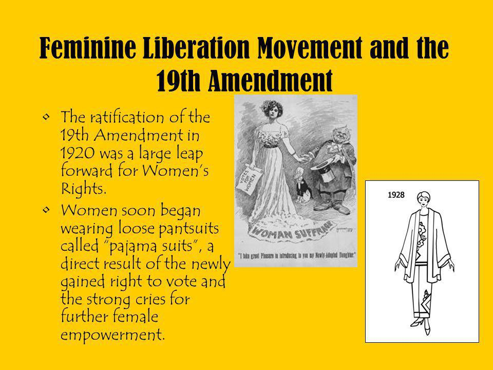 Feminine Liberation Movement and the 19th Amendment