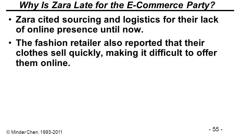 Why Is Zara Late for the E-Commerce Party