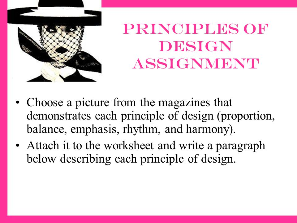 Principles of design assignment