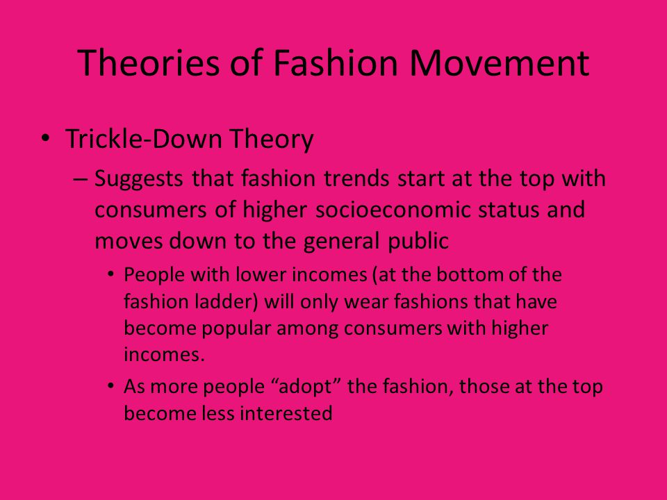 Theories of Fashion Movement
