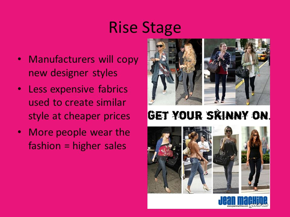 Rise Stage Manufacturers will copy new designer styles