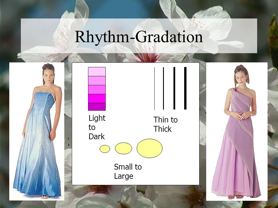 Rhythm-Gradation Light to Dark Thin to Thick Small to Large