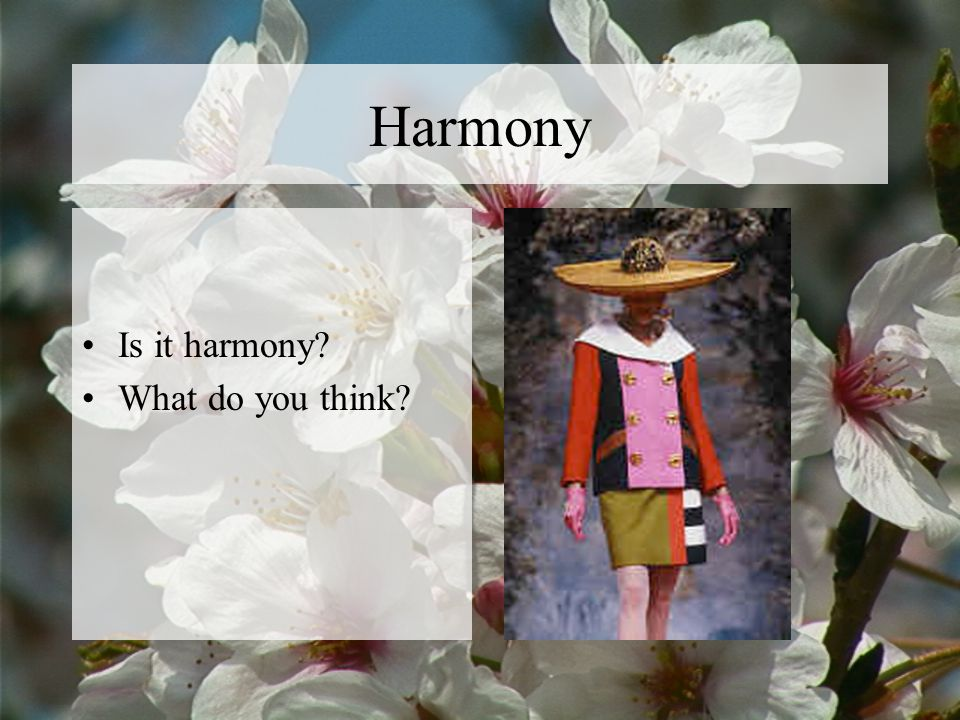Harmony Is it harmony What do you think