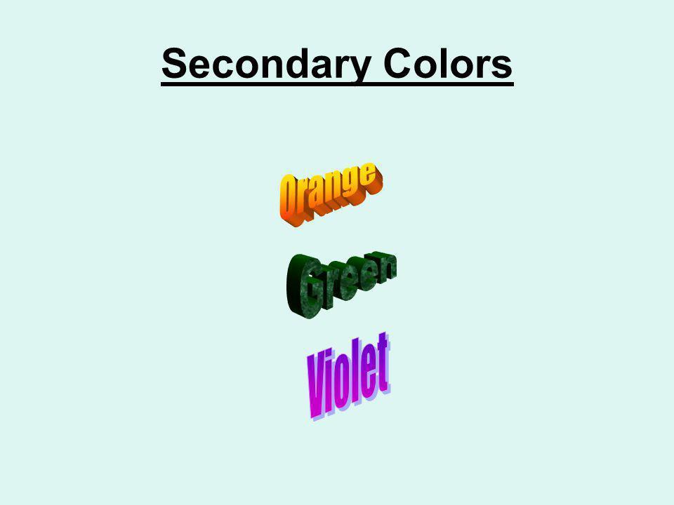 Secondary Colors Orange Green Violet