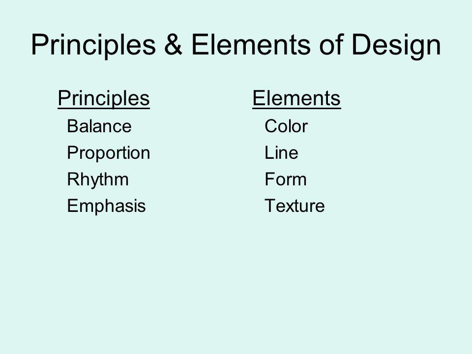 Principles & Elements of Design