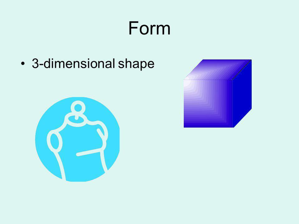 Form 3-dimensional shape