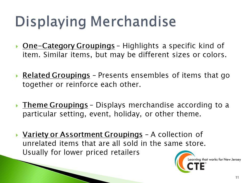 Displaying Merchandise