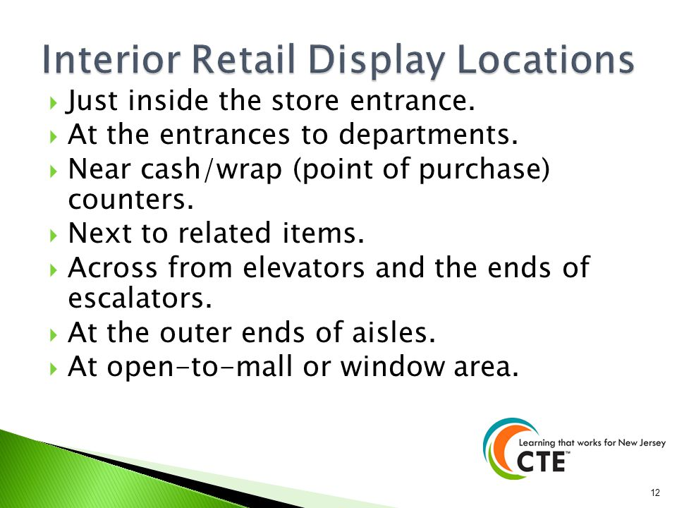 Interior Retail Display Locations