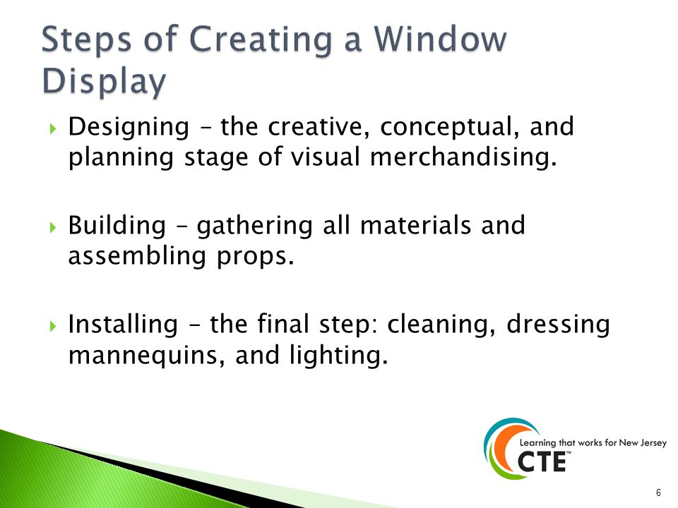 Steps of Creating a Window Display