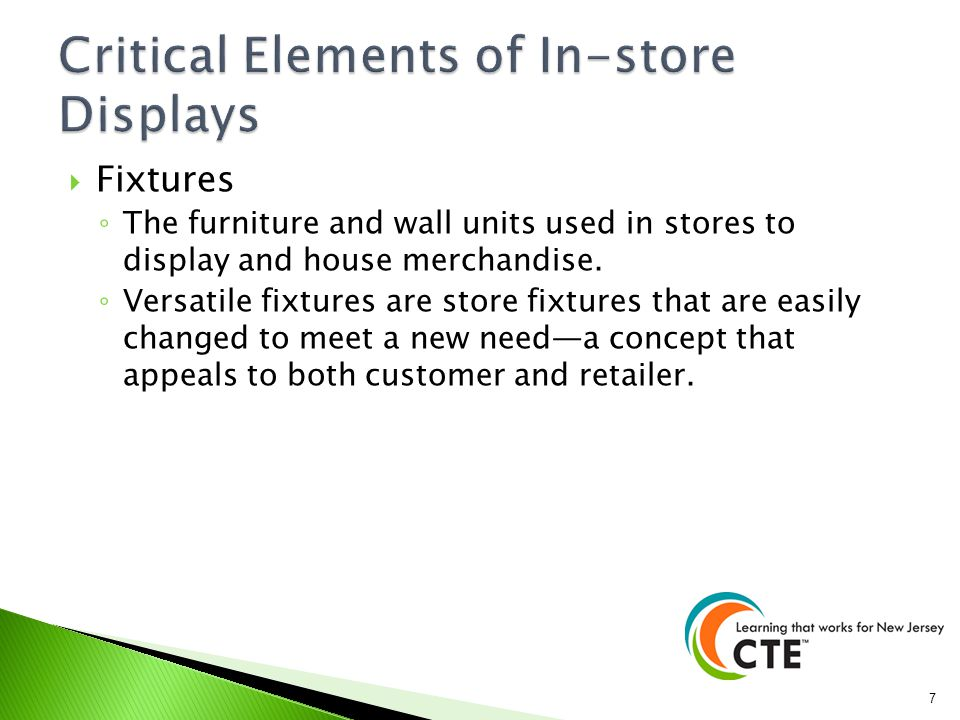 Critical Elements of In-store Displays