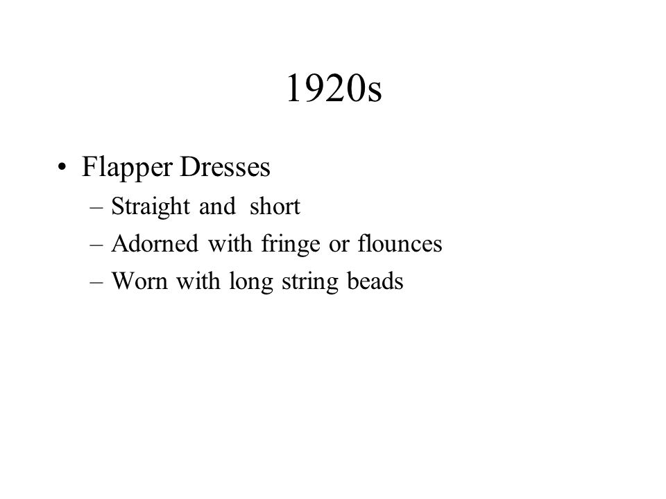 1920s Flapper Dresses Straight and short