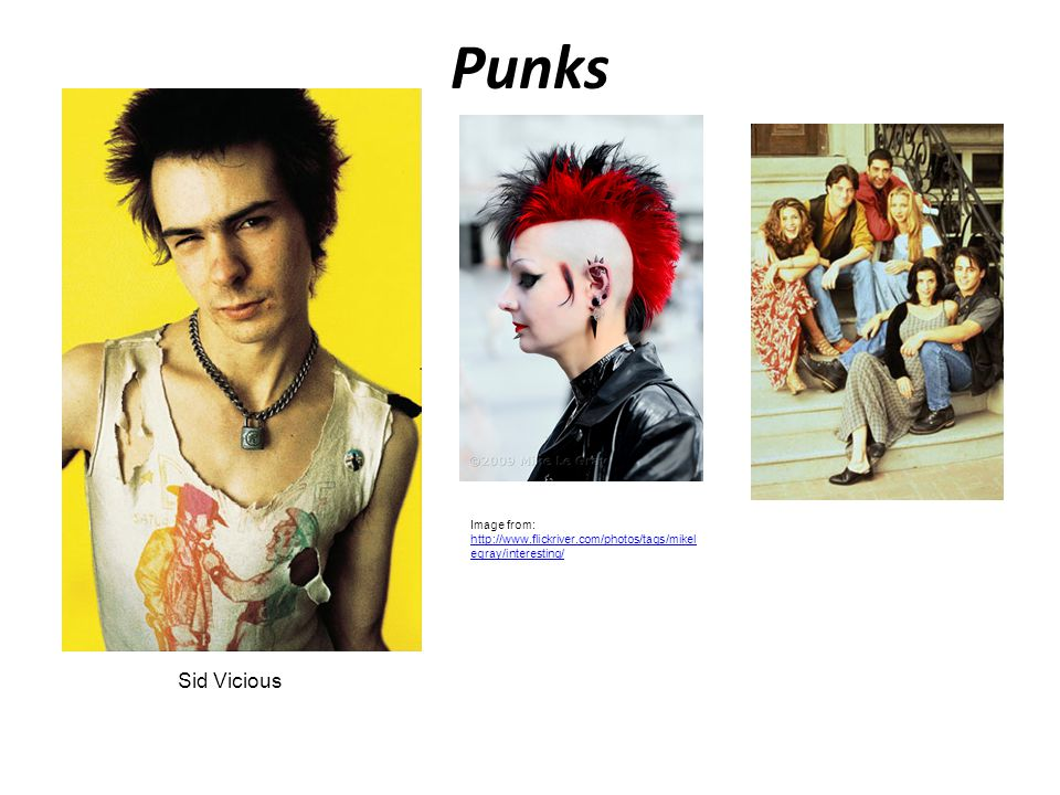 Punks Image from: http://www.flickriver.com/photos/tags/mikelegray/interesting/ Sid Vicious