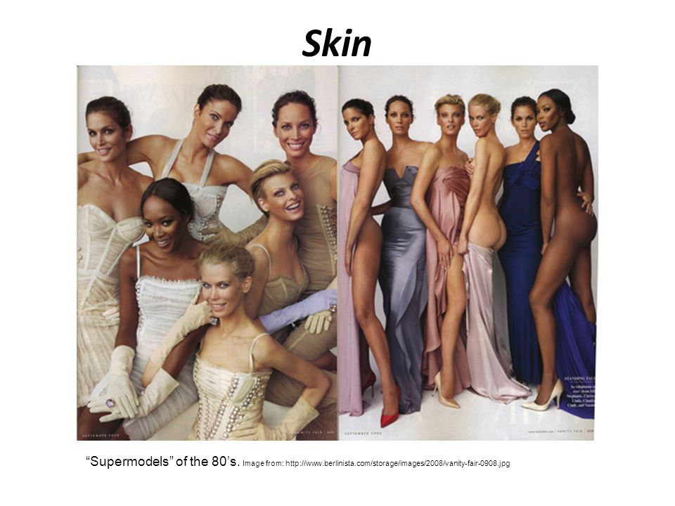 Skin Supermodels of the 80's.