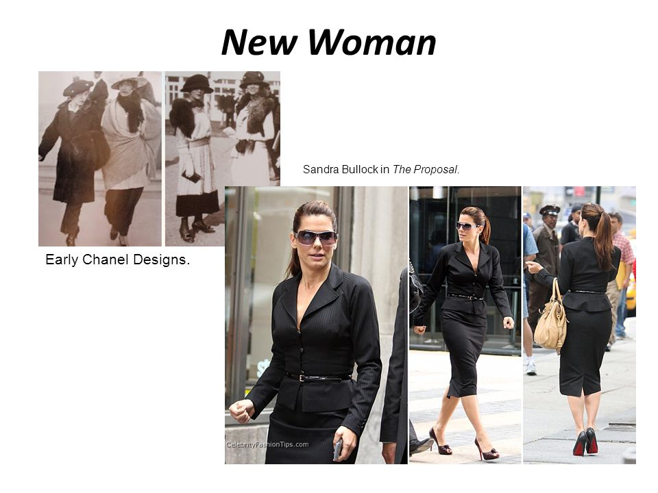 New Woman Sandra Bullock in The Proposal. Early Chanel Designs.