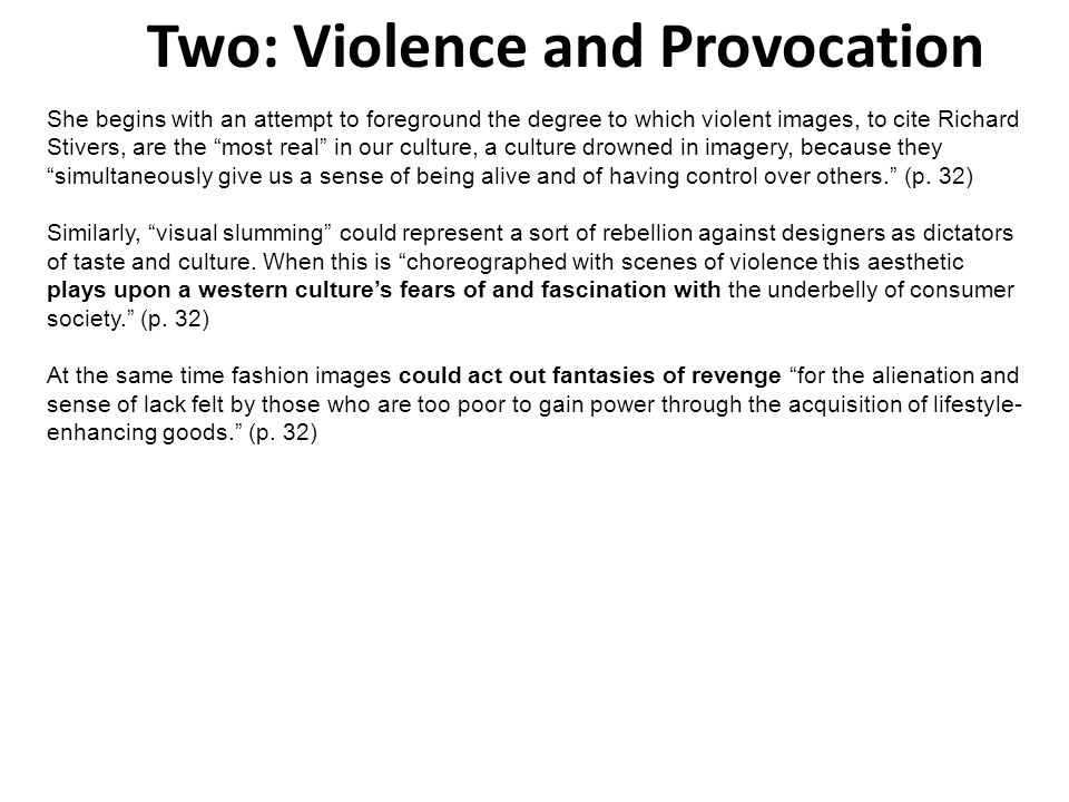 Two: Violence and Provocation