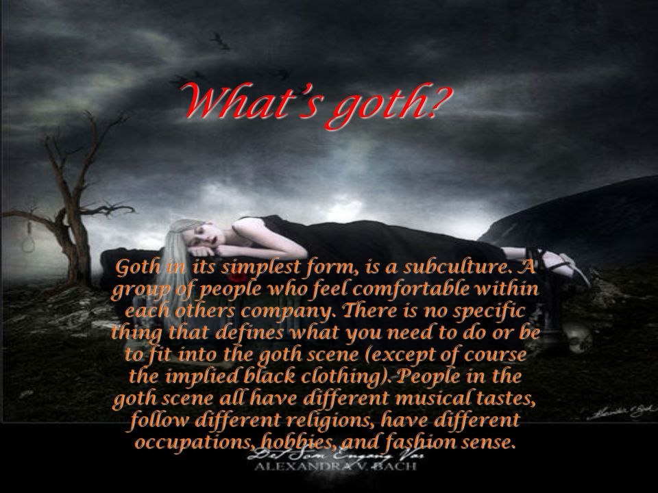 What's goth