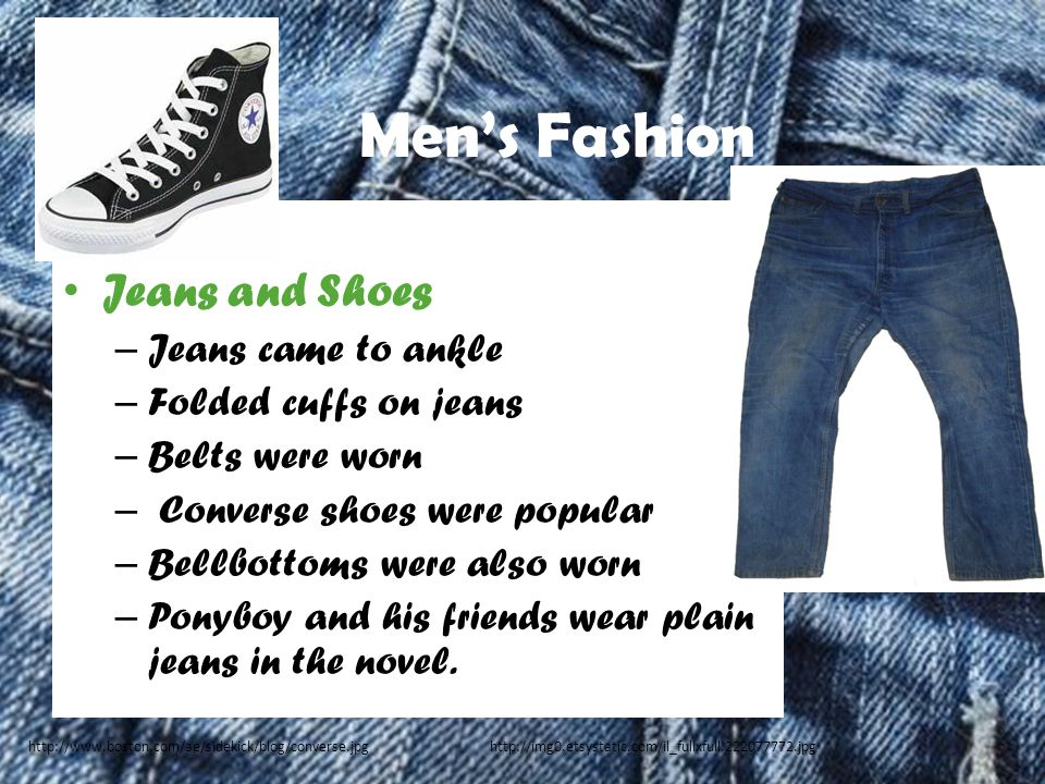 Men's Fashion Jeans and Shoes Jeans came to ankle