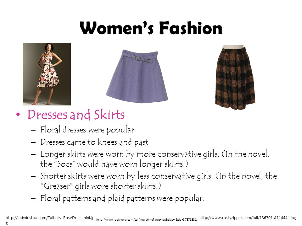 Women's Fashion Dresses and Skirts Floral dresses were popular