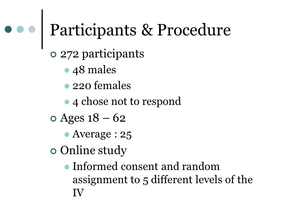 Participants & Procedure