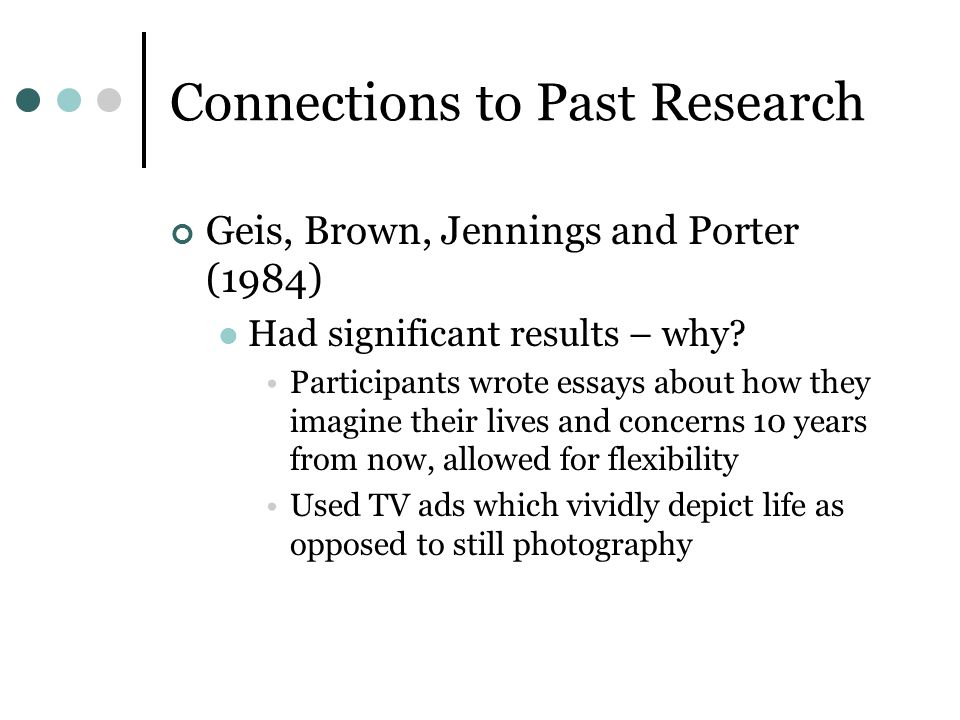 Connections to Past Research
