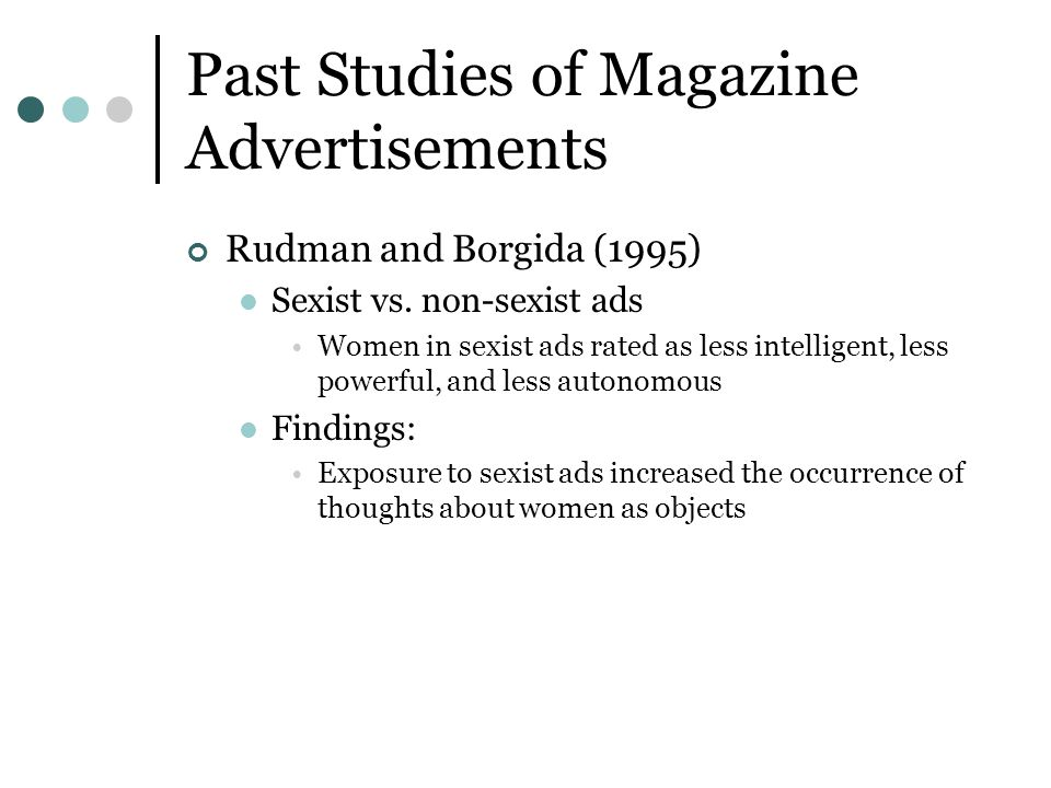 Past Studies of Magazine Advertisements