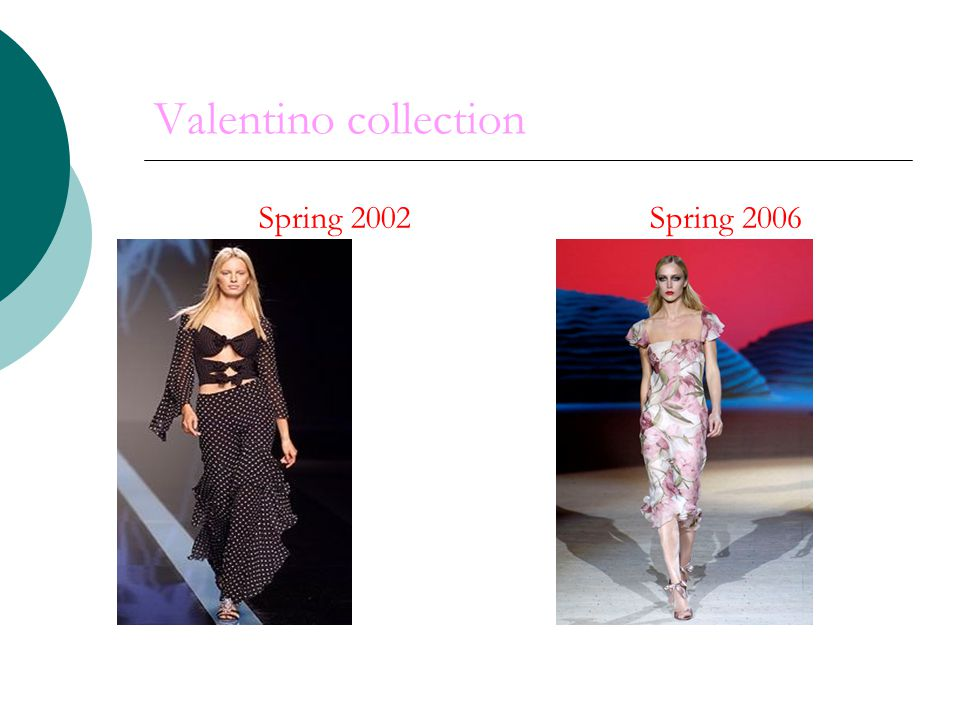Valentino collection Spring 2002 Spring 2006