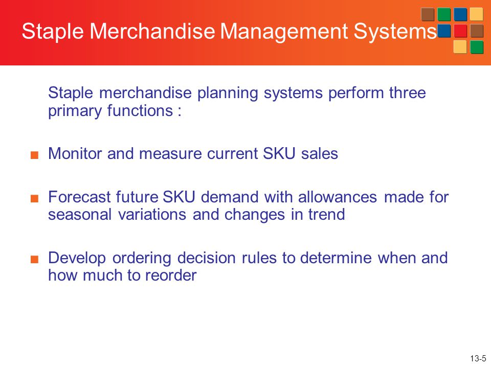 Staple Merchandise Management Systems