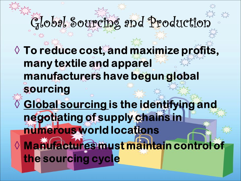 Global Sourcing and Production