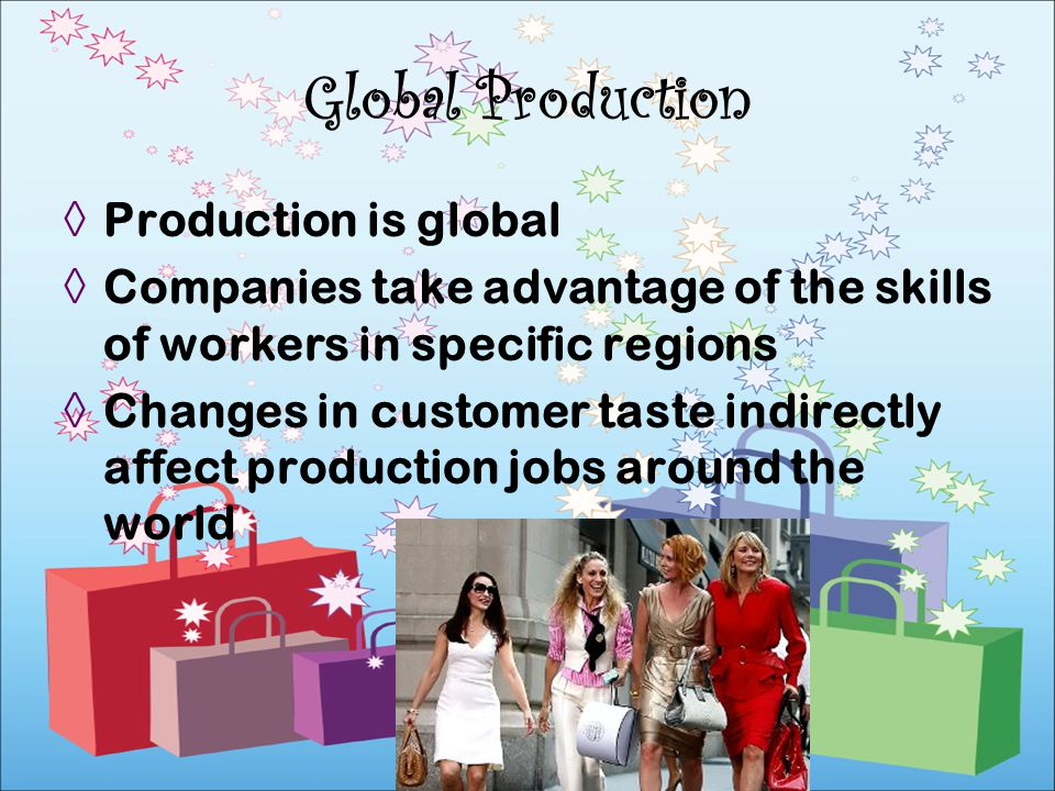 Global Production Production is global