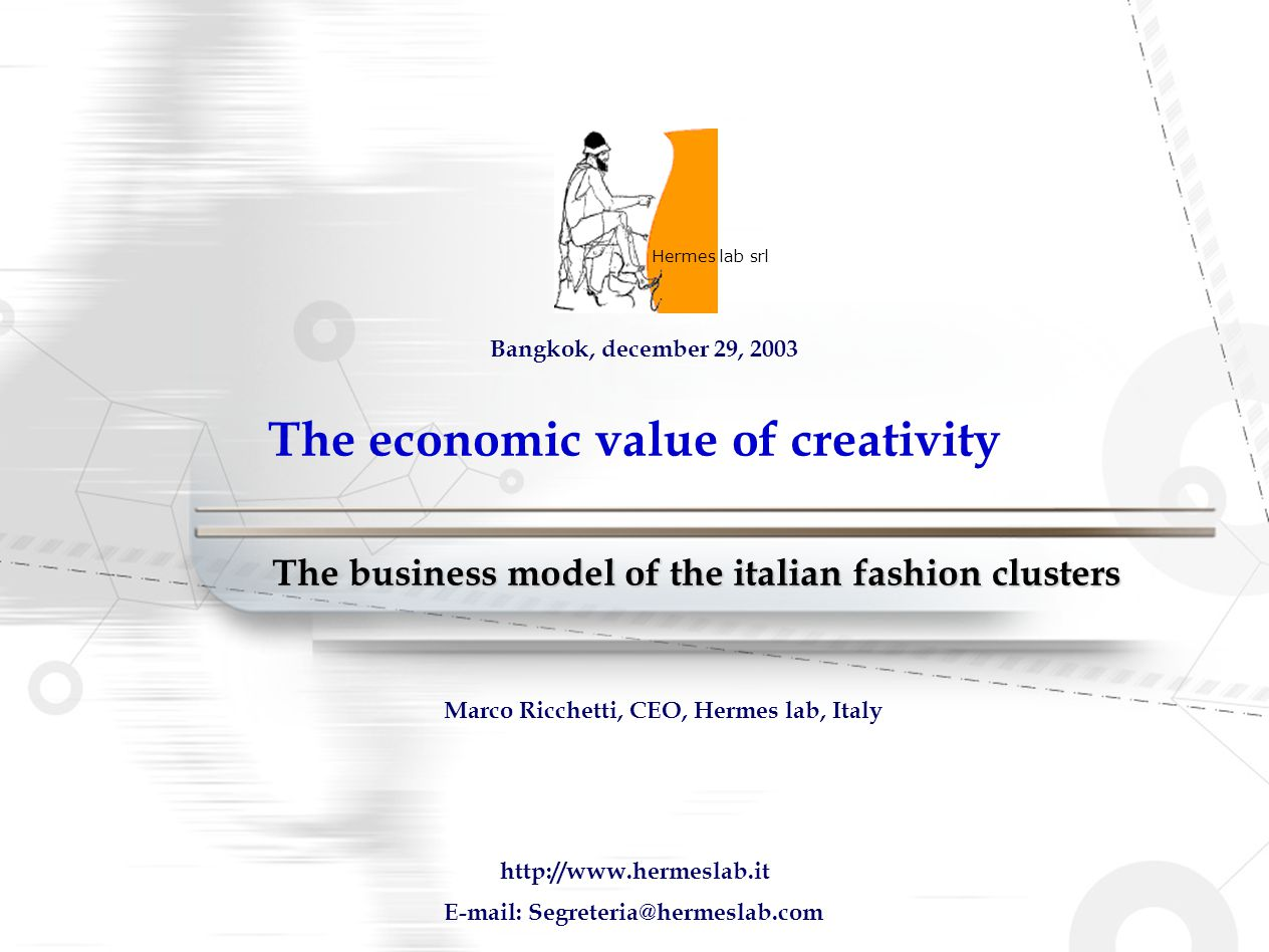 The economic value of creativity