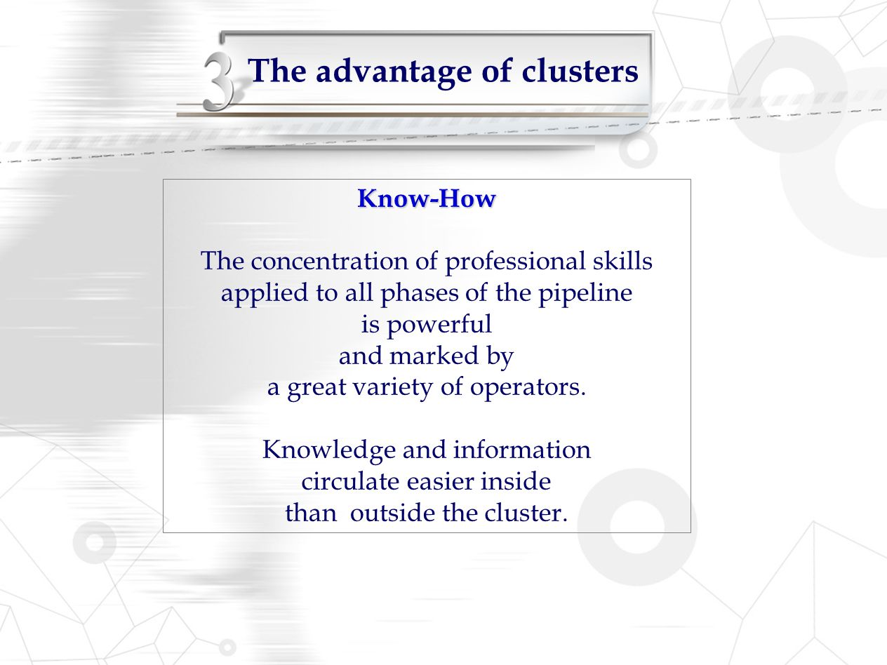 The advantage of clusters